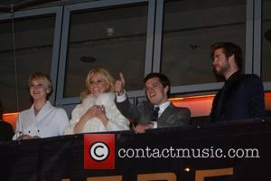 Jennifer Lawrence (l-r), Elizabeth Banks, Josh Hutcherson and Li
