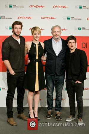 Liam Hemsworth, Francis Lawrence, Jennifer Lawrence and Josh Hutcherson