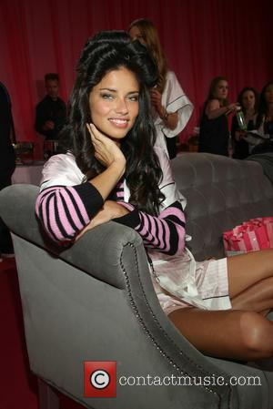Adriana Lima - Victoria's Secret Fashion Show at the Lexington Armory - Backstage - New York City, New York, United...