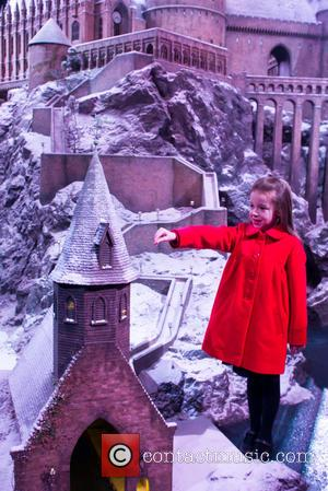 Robyn - Local schoolgirl Robyn adds some of the last sprinkles of snow to the Hogwarts model at Warner Bros...