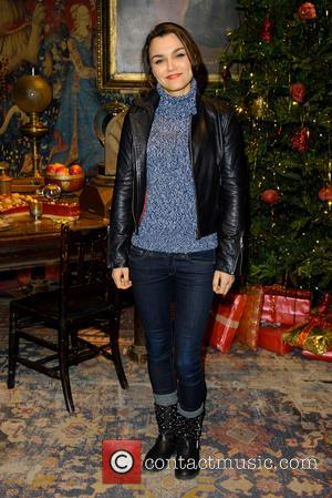 Samantha Barks - Hogwarts in the Snow -  Harry Potter set becomes a winter wonderland to celebrate the festive...