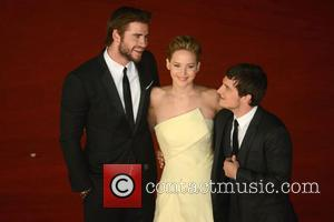 Jennifer Lawrence, Liam Hemsworth and Josh Hutcherson