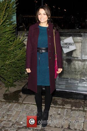 Samantha Barks - Skate at Somerset House VIP launch - Arrivals - London, United Kingdom - Thursday 14th November 2013