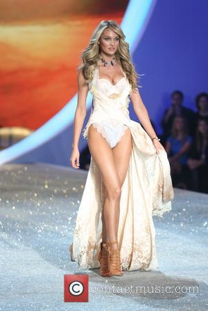 Candice Swanepoel - the runway at the 2013 Victoria's Secret Fashion Show at Lexington Avenue Armory on November 13, 2013...