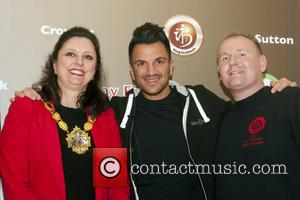 Peter Andre and Mayoress Of Croydon