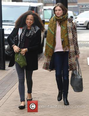 Natalie Gumede and Sophie Ellis-Bextor - Strictly Come Dancing contestants arrive at Blackpool's Tower Ballroom for rehearsals ahead of the...