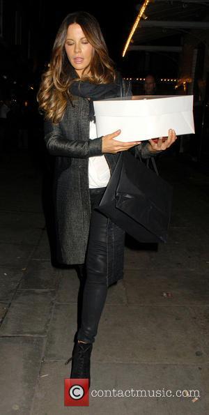 Kate Beckinsale - Celebrities leave the Noel Coward Theatre - London, United Kingdom - Saturday 16th November 2013