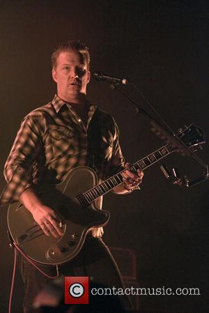 Josh Homme and Queens of the Stone Age - Queens of the Stone Age performing at the Hydro in Glasgow...