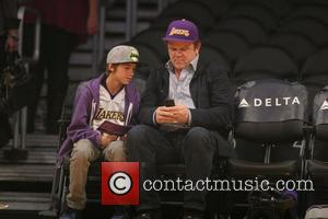 John C. Reilly - Friday November 15, 2013; Celebs out at the Lakers game. The Memphis Grizzlies defeated the Los...