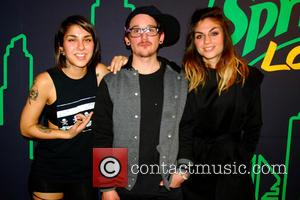 Krewella, Jahan Yousaf, Yasmine Yousaf and Kris Trindl - Krewella perform for fans at 103.5 KISS FM Chicago Radio at...
