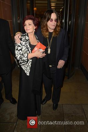Ozzy Osbourne and Sharon Osbourne - The X Factor judges enjoy a night out at C London restaurant after filming...