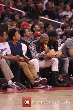 Floyd Mayweather Jr. - Floyd Mayweather Jr. at the Clippers game. The Memphis Grizzlies defeated the Los Angeles Clippers by...