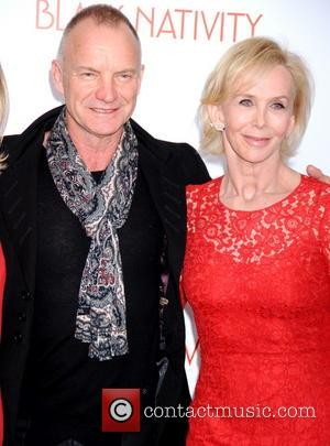 Sting, Gordon Sumner and Trudy Styler - New York Premiere of 'Black Nativity' at the Apollo Theater - Red Carpet...