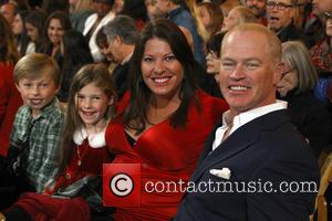 Neal McDonough, Ruve McDonough, Morgan Patrick McDonough and Catherine Maggie McDonough - 11th Annual Christmas Tree Lighting Spectacular at The...