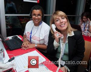 Fay Ripley - Celebrities supporting the DEC Philippines Typhoon Appeal during a telethon at BT Tower. - London, United Kingdom...
