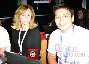 Amanda Holden - Celebrities supporting the DEC Philippines Typhoon Appeal during a telethon at BT Tower - London, United Kingdom...