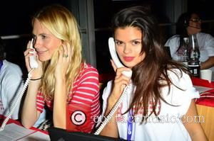 Poppy Delevingne and Bip Ling - Celebrities supporting the DEC Philippines Typhoon Appeal during a telethon at BT Tower -...