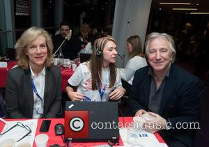 Juliet Stevenson and Alan Rickman - Celebrities supporting the DEC Philippines Typhoon Appeal during a telethon at BT Tower. -...