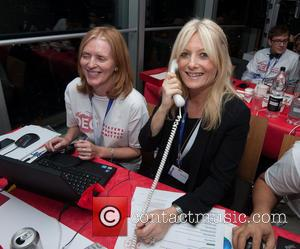 Gaby Rosslin - Celebrities supporting the DEC Philippines Typhoon Appeal during a telethon at BT Tower. - London, United Kingdom...