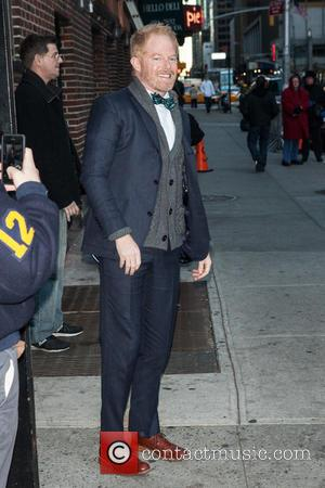Jesse Tyler Ferguson - Celebrities outside The Ed Sullivan Theater for the taping on the Late Show With David Letterman...
