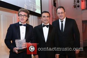 Francois Cluzet, Carlos Ghosn and Jean Reno