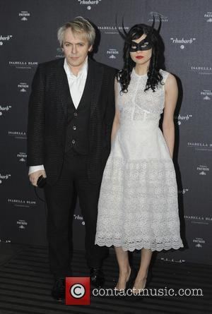 Nick Rhodes and Nefer Suvio - Private viewing of 'Isabella Blow: Fashion Galore!' exhibit at Somerset House - Arrivals -...