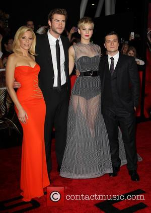 Elizabeth Banks, Liam Hemsworth, Jennifer Lawrence and Josh Hutcherson
