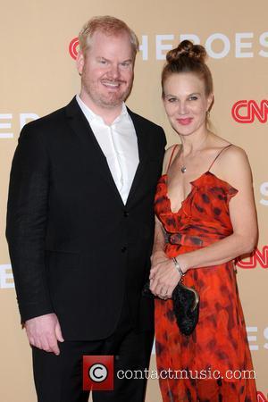 Jim Gaffigan and Jeannie Gaffigan - 2013 CNN Heroes: An All Star Tribute - Red Carpet Arrivals - Manhattan, New...