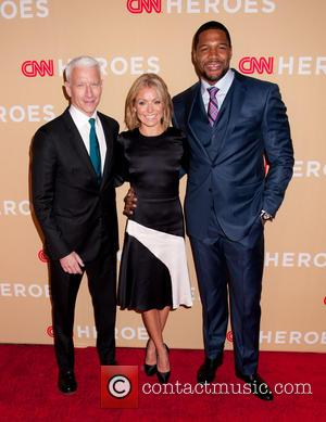 Anderson Cooper, Kelly Ripa and Michael Strahan