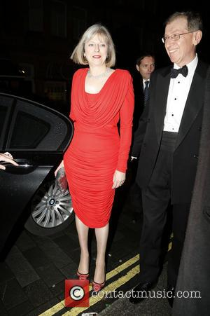 Theresa May and Philip John May - The Sugarplum Dinner held at One Mayfair - Outside Arrivals - London, United...