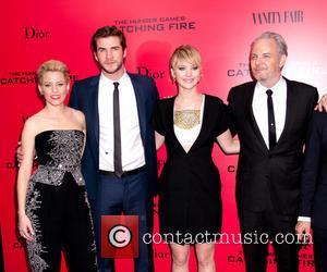 Elizabeth Banks, Liam Hemsworth, Jennifer Lawrence and Francis Lawrence