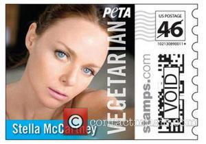 Images of the new stamp sheet - which is available for purchase at PETA.org and also features Joan Jett, Pamela...