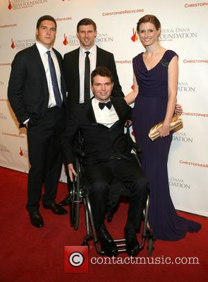 Matthew Reeve, Will Reeve, Francesco Clark and Alexandra Reeve Givens