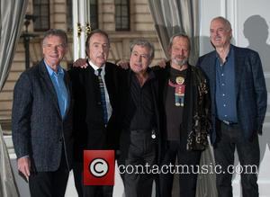John Cleese, Terry Gilliam, Eric Idle, Terry jones and Michael Palin - Monty Python reunion photocall held at the Corinthia...