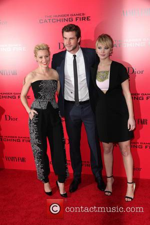 Elizabeth Banks, Liam Hemsworth and Jennifer Lawrence - Lionsgate Present the NY Special Screening of The Hunger Games Catching Fire...