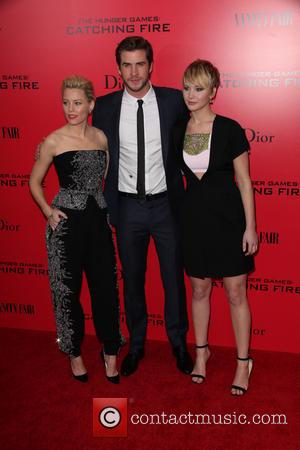 Elizabeth Banks, Liam Hemsworth and Jennifer Lawrence