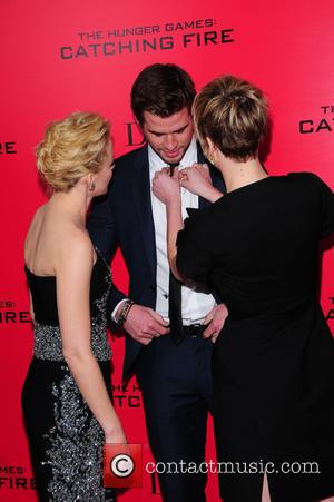 Elizabeth Banks, Liam Hensworth and Jennifer Lawrence