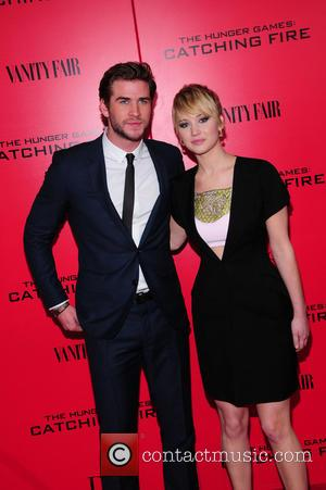 Liam Hensworth and Jennifer Lawrence