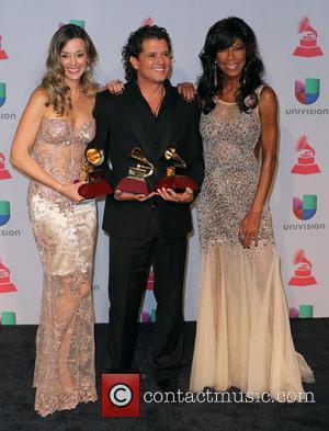 Claudia Elena Vasquez, Carlos Vives and Natalie Cole - 2013 Latin Grammy Award Winners At Mandalay Bay Resort and Casino...