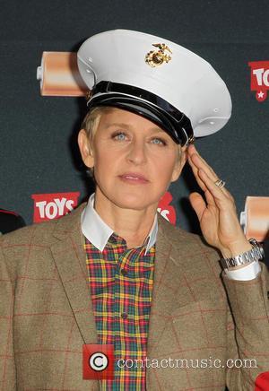 Ellen DeGeneres - Ellen DeGeneres announce Duracell 'Power a Smile' campaign for Toys for Tots At Van Nuys Airport -...