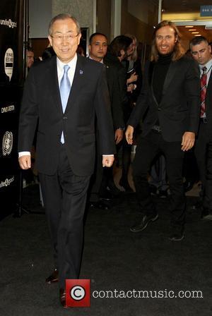 Ban Ki-moon and David Guetta