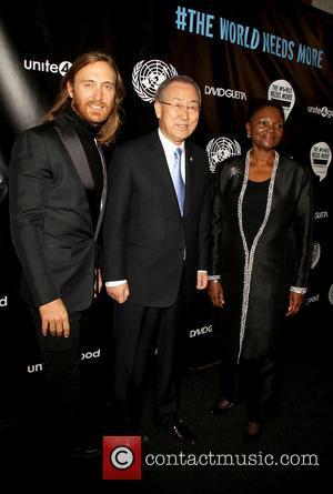 David Guetta, Ban Ki-moon and Valerie Amos