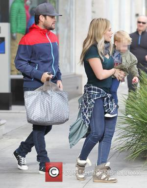 Hillary Duff, Mike Comrie and Luca Comrie