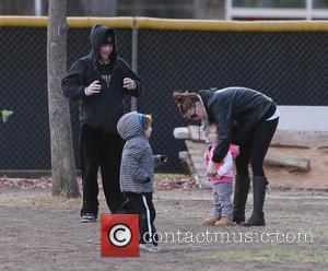 Victoria Prince and Jordan Federline - Kevin Federline, along with his wife Victoria Prince and their daughter Jordan, watch his...