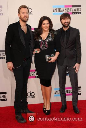 Charles Kelley, Hillary Scott and Dave Haywood - 2013 American Music Awards at Nokia Theatre L.A. Live  - Arrivals...