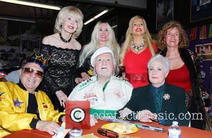 George Barris, Marty Ingles, Shirley Jones, Francine York, Brenda Dickson and Mamie Van Doren