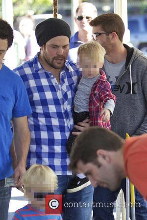 Mike Comrie and Luca Comrie - Celebrities visit the Studio City farmers market - Los Angeles, California, United States -...
