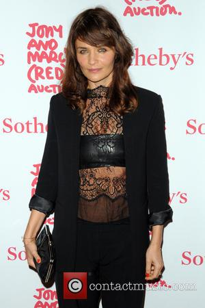 Helena Christensen - Jony And Marc's (RED) Auction - Red Carpet Arrivals at Sotheby's - Manhattan, New York, United States...