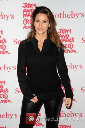 Gina Gershon - Jony And Marc's (RED) Auction - Red Carpet Arrivals at Sotheby's - Manhattan, New York, United States...