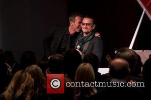 Bono and Chris Martin - Jony And Marc's (RED) Auction - Auction - Manhattan, New York, United States - Sunday...